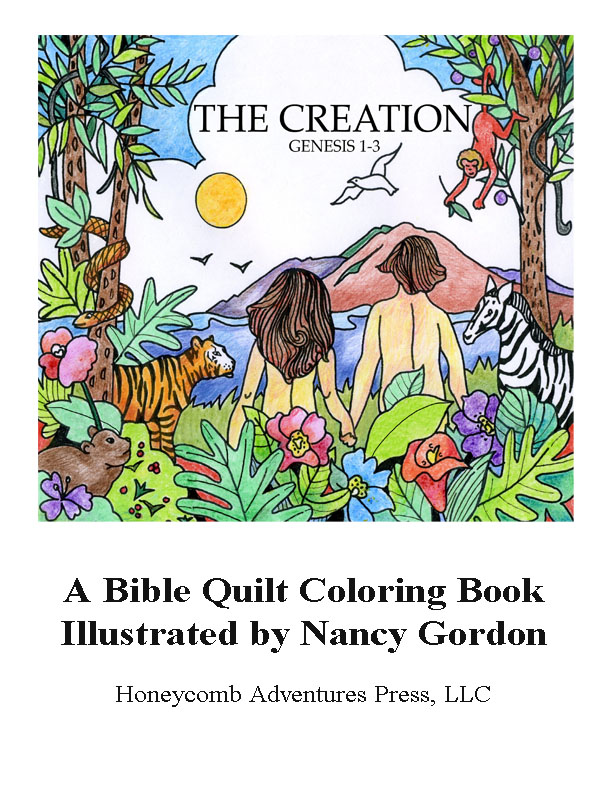 Creation coloring book cover