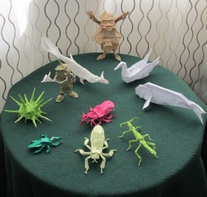 Oragami critters and gnomes